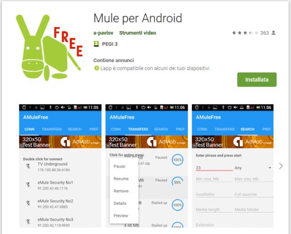Emule su Android: guida e installazione