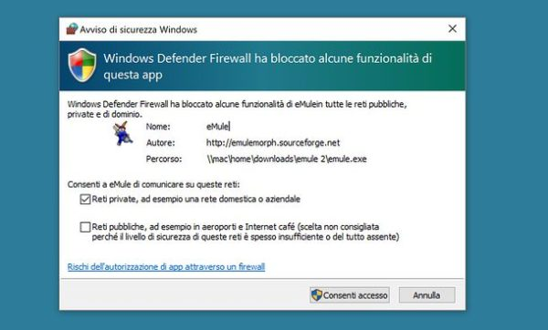 Firewall Windows: bloccare l'accesso a Internet a un programma
