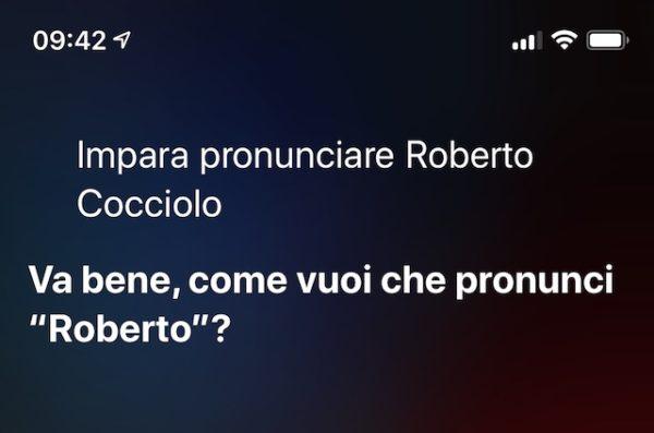 modificare la pronuncia dei nomi di Siri
