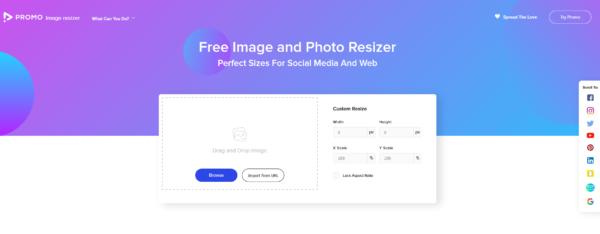 Promo Image Resizer - ridimensionare immagini per i social
