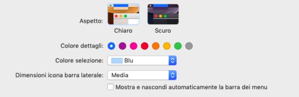 dark mode su mac