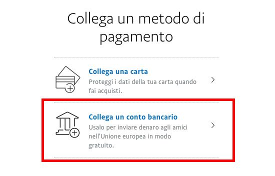 Come aggiungere un conto corrente su PayPal