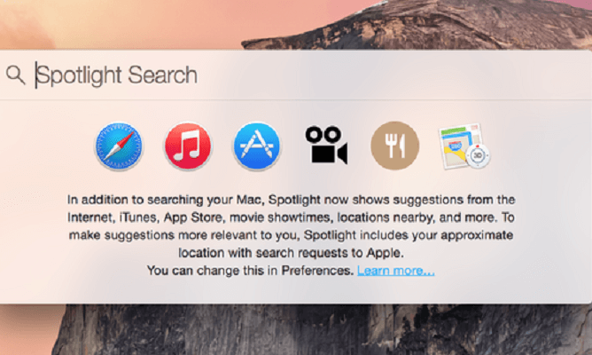 Spotlight non funziona su Mac come risolvere 1