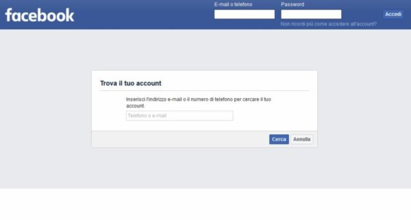 Come cambiare password Facebook