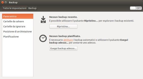 Come configurare backup automatico con Deja Dup su Linux