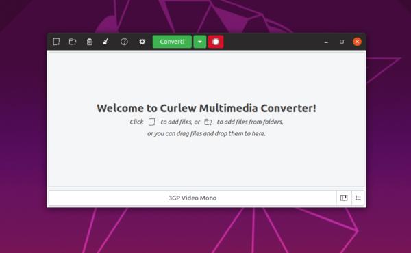 Come convertire file multimediali su Linux con Curlew