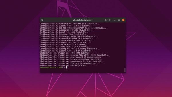 Come installare Wine 4 su Linux