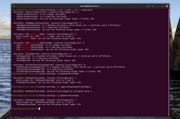 Come mantenere impostazioni NVIDIA PowerMizer su Ubuntu