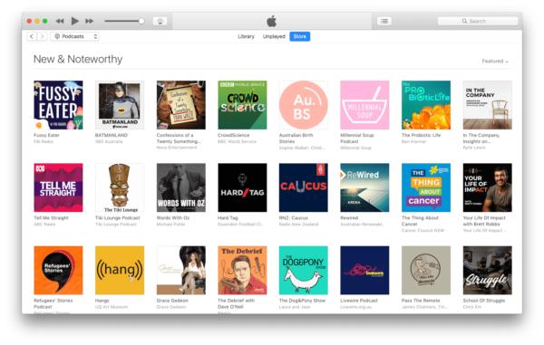 Come ottenere link RSS di podcast su iTunes