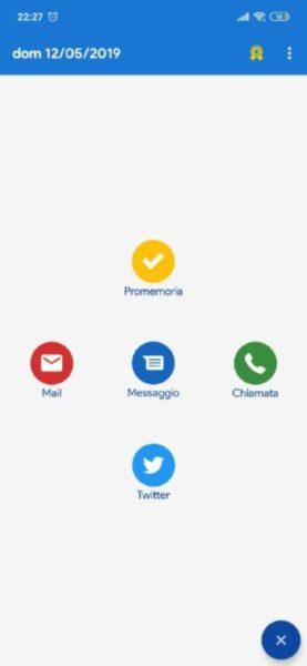 Come programmare invio SMS o email su Android