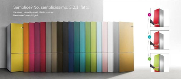 Frigorifero colorato - Bosch - pannelli