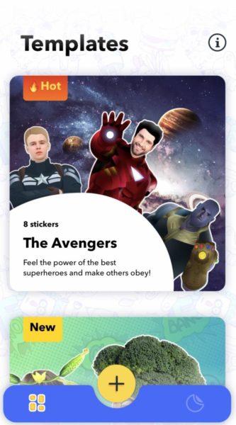 Creare stickers con template predefiniti per iMessage