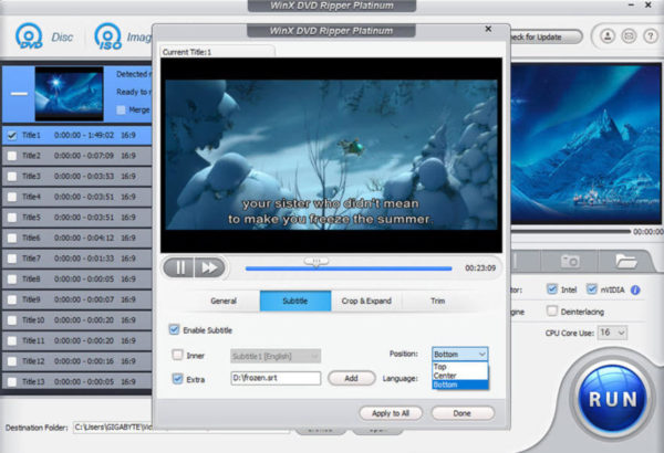 WinX DVD Ripper Platinum - convertire facilmente DVD in video