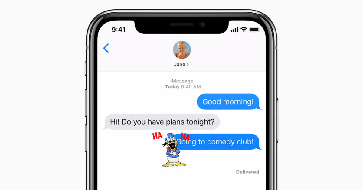 ios12 iphone x messages imessage stickers social card