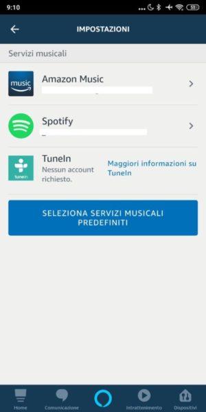 Come modificare il servizio musicale di default su Amazon Echo