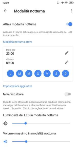 Come attivare la modalità notturna su Google Home 2