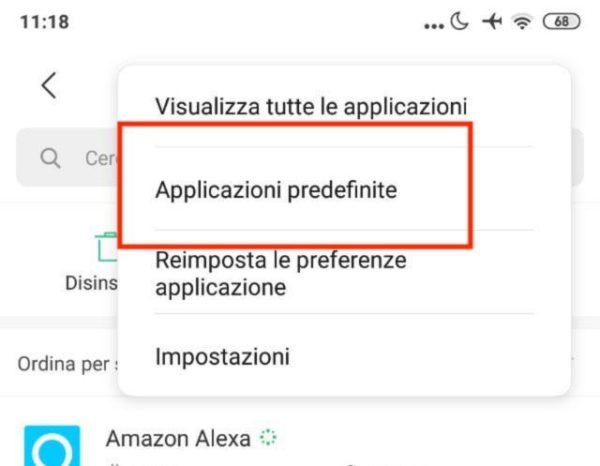 Come modificare le applicazioni predefinite su smartphone Xiaomi 1
