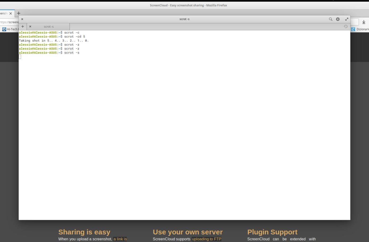 Come catturare screenshot da terminale Linux con Scrot 2