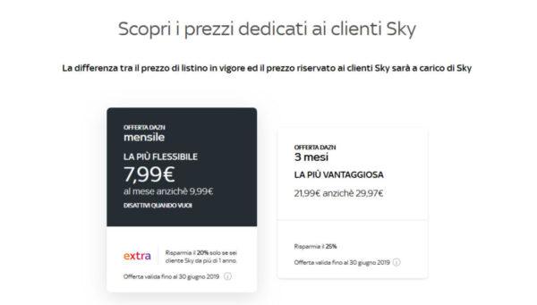Come comprare ticket DAZN su Sky