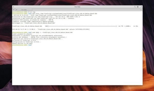 Come crittografare file su Linux con FinalCrypt