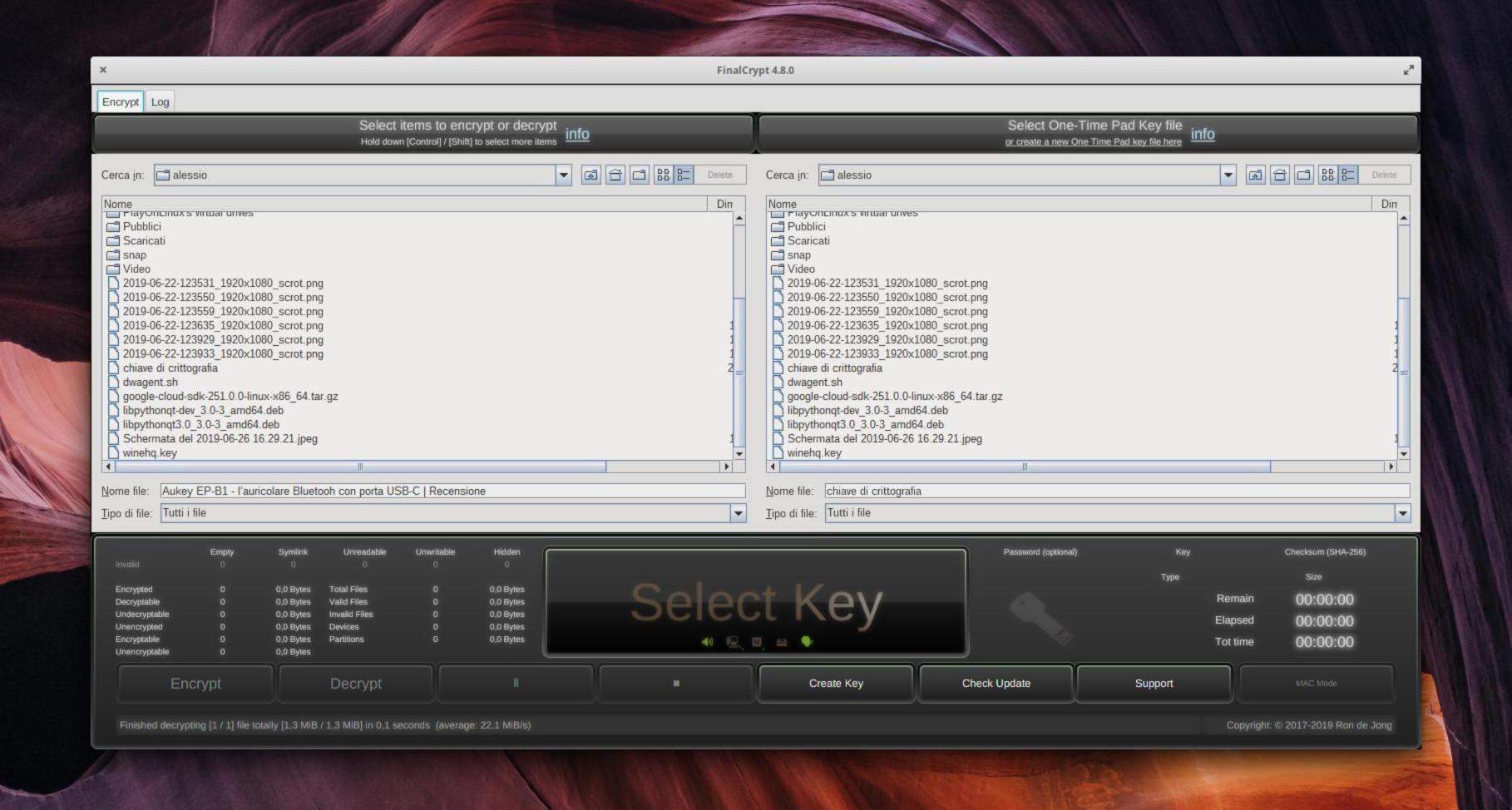 Come crittografare file su Linux con FinalCrypt 2