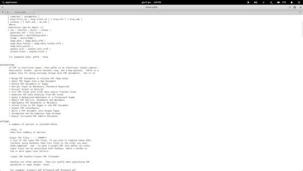 Come dividere PDF da terminale Linux