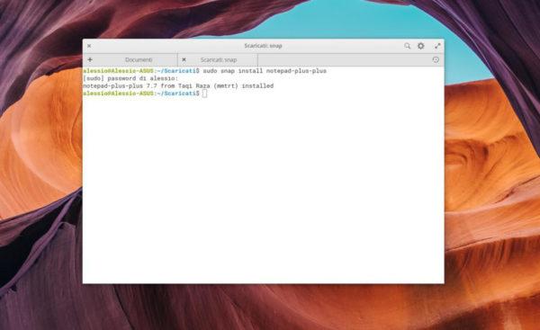 Come installare NotePad++ su Linux