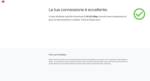 Google Stadia requisiti e verifica connessione