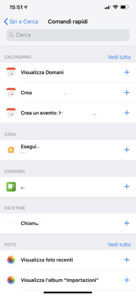 """Aggiungere comandi rapidi Siri senza """"Comandi"""""""