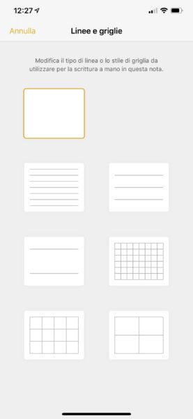 Come modificare lo sfondo delle note su iOS
