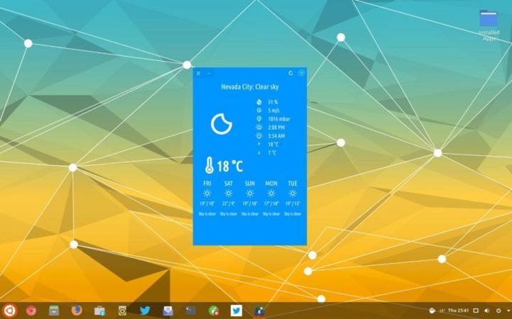 Migliori app meteo per Linux 1