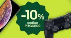 Promozione eBay PITGIU100 10%