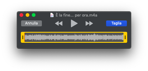 Come ritagliare file audio e video con QuickTime Player su Mac