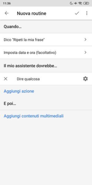 Come creare frasi da far ripetere a Google Assistant