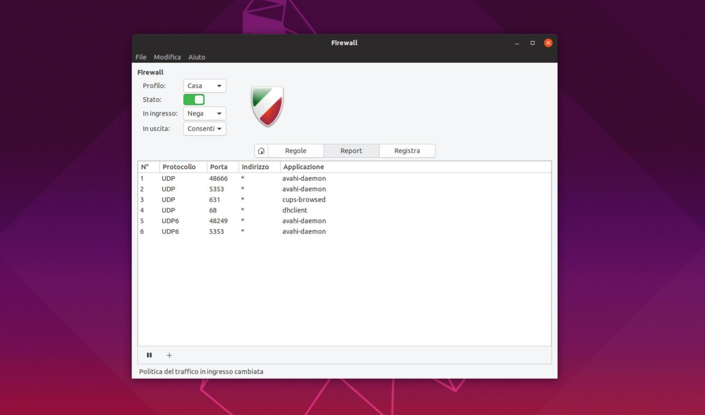 Come configurare firewall su Ubuntu 2