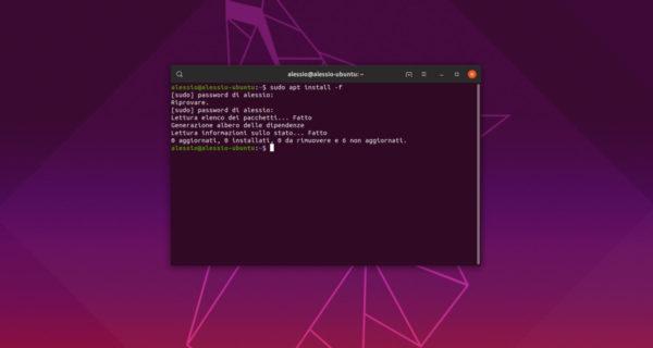 Come correggere problemi di dipendenze su Ubuntu