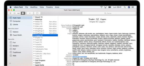 Come installare o rimuovere font su Mac