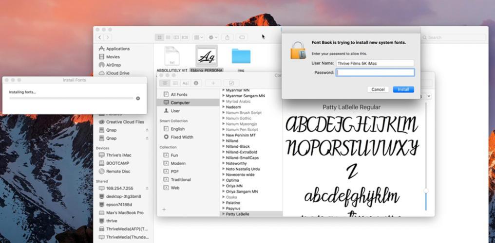Come installare o rimuovere font su Mac 2