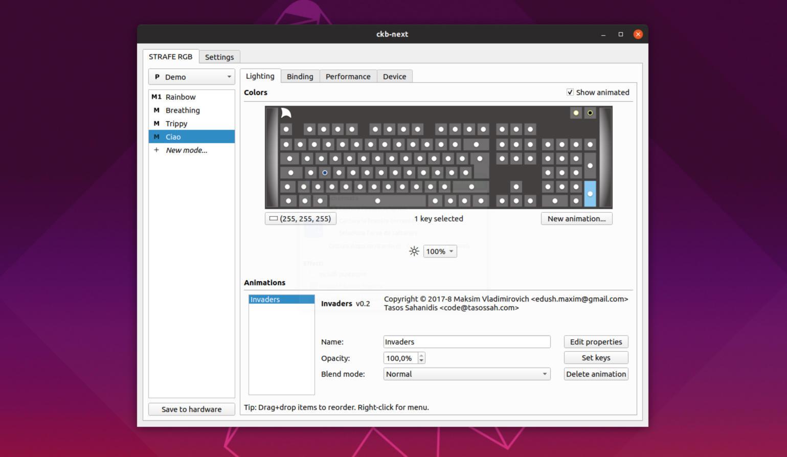 Come regolare retroilluminazione delle tastiere Corsair su Linux 2