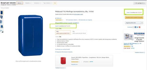 Frigorifero usato - esempio amazon warehouse deal