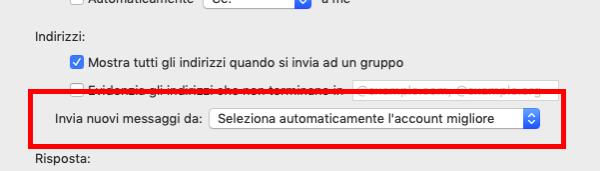 Impostare un account mail di default su Mac