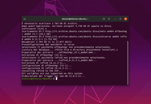Come installare bootloader rEFInd su Linux
