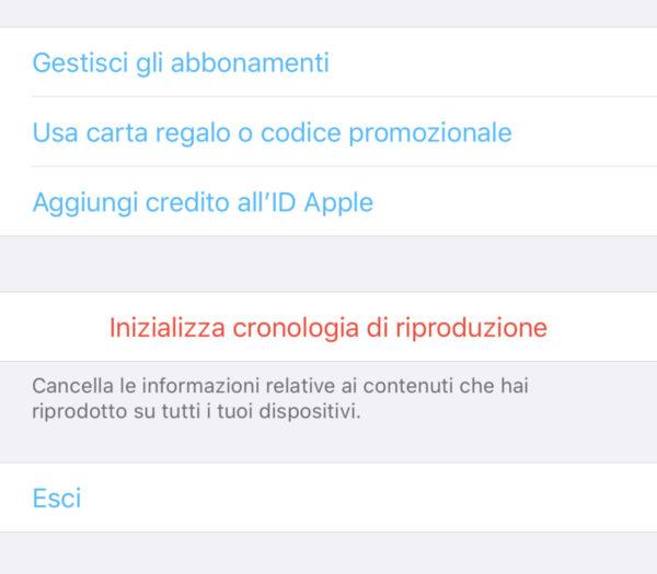 Come inizializzare la cronologia di riproduzione di Apple TV