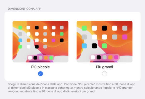 Come modificare griglia app su iPad