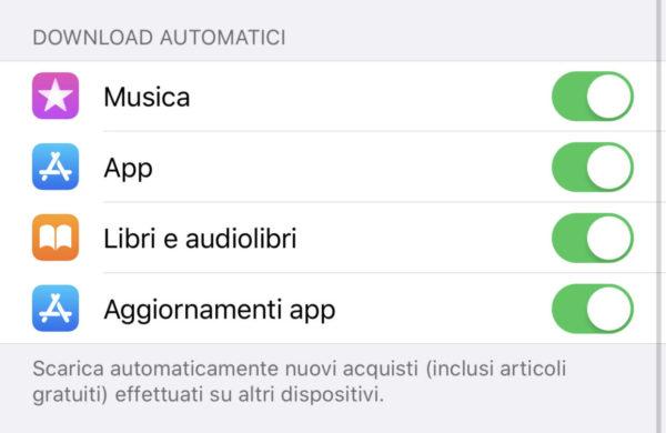 Disattivare aggiornamento automatico app su iOS