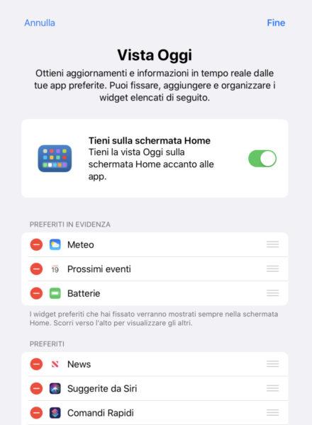 Come aggiungere widget preferiti su iPadOS