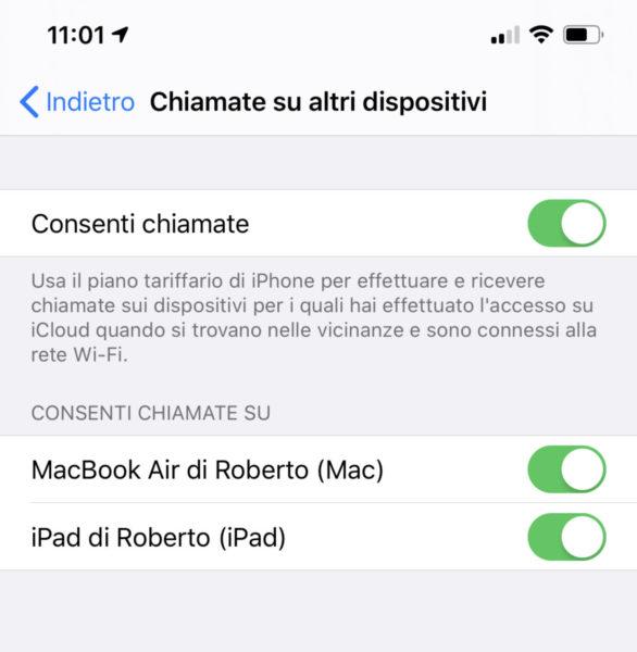 Come rispondere alle chiamate da iPad e Mac