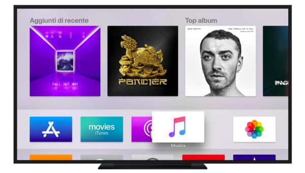 Come nascondere app su Apple TV
