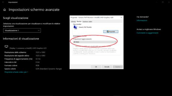 schermo tremolante windows10 3