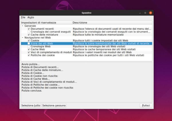 Come cancellare file inutili su Linux